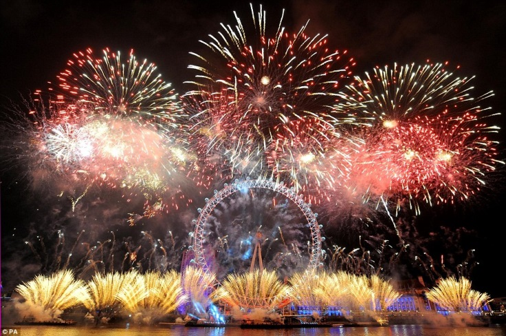 Enjoy the London New Year's Eve fireworks from the Golden Jubilee's large outside deck.