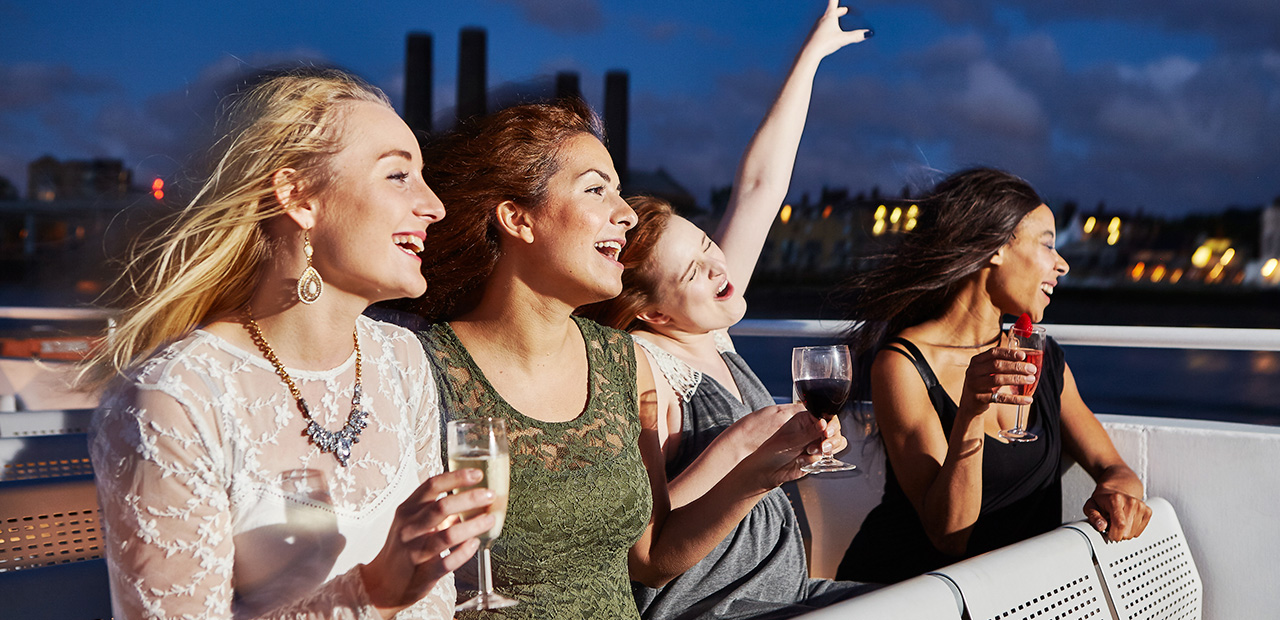 Enjoy panoramic views of London's New Year's Eve Fireworks on board the Galaxy boat cruise