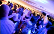 After dinner, dance to party classics on board the Xmas Thames dinner cruise
