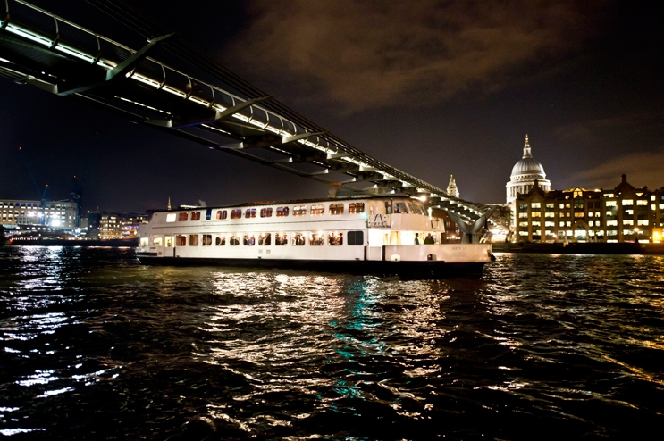 The Jewel of London is a large Thames party boat