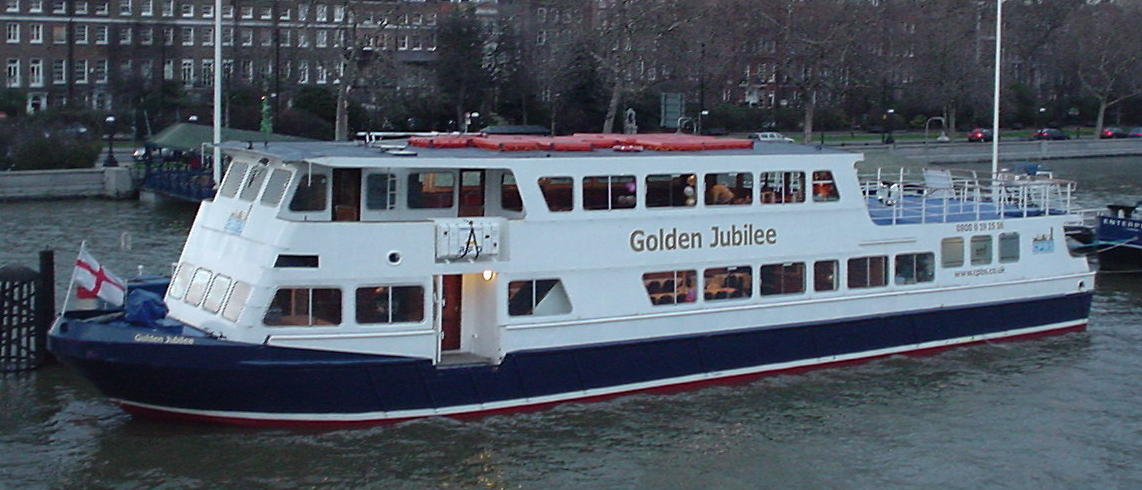 The Golden Jubilee is one of the most popular party boats on the Thames