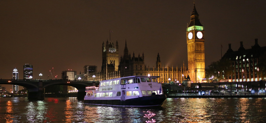 Enjoy New Years Eve on the river Thames onboard the Golden Jubilee