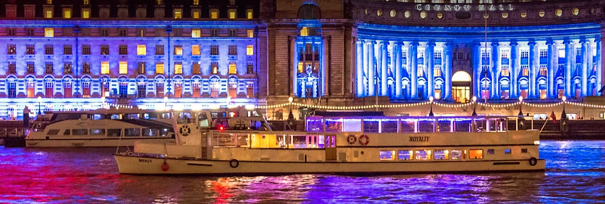 The Royalty is one of London's most popular party boats, ideal for celebrating NYE