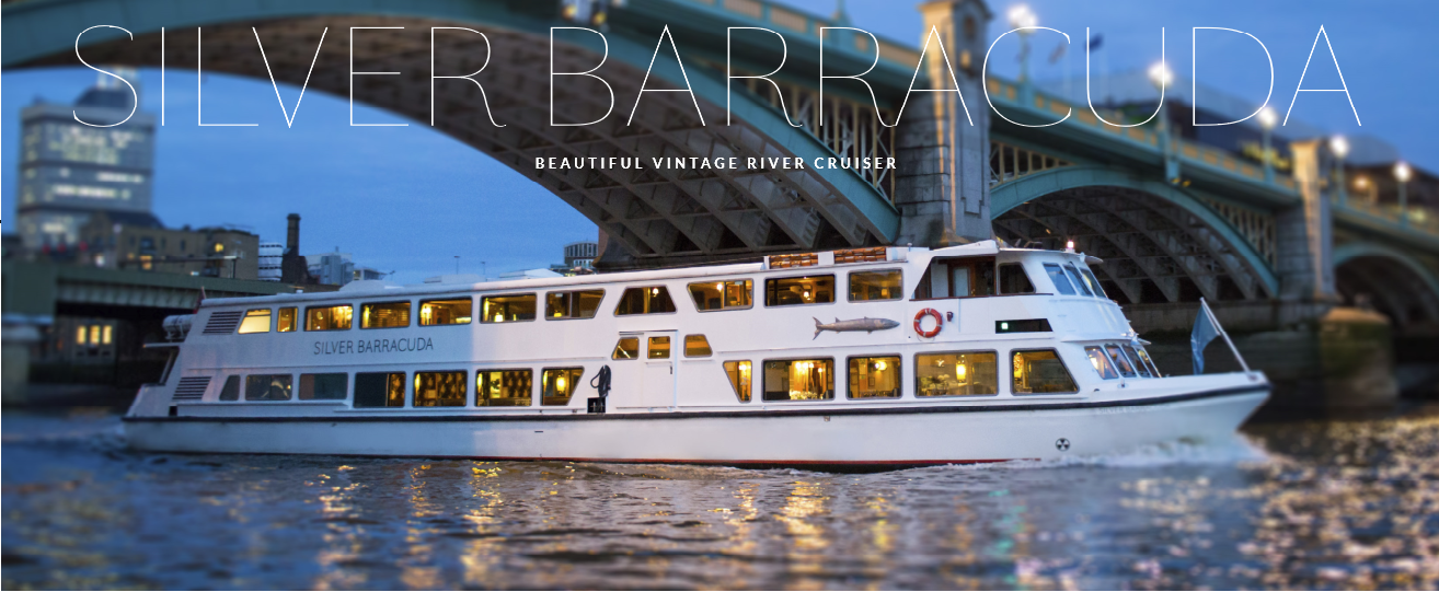 The Silver Barracuda is an opulent Thames river cruiser in London