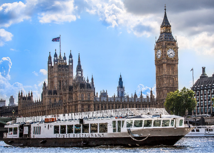 Enjoy a Christmas  Lunch cruise on the newest restaurant boat on the Thames