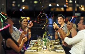 Enjoy a first class Thames New Year's Eve experience on board the newly refurbished Glass Room boat