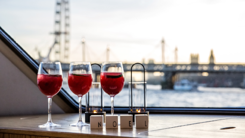 Book your office Xmas party on the Silver Sturgeon Thames Lunch Cruise